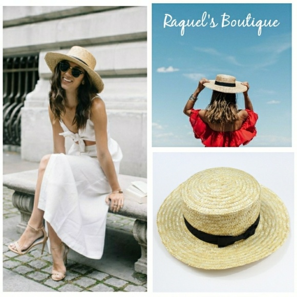 4c5285ed382b7 Accessories - Josie Woven Boater Sun Hat